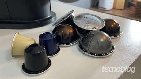 Cápsulas da linha original e da Nespresso Vertuo Next