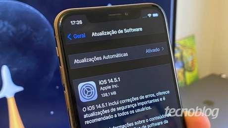 Atualização para o iOS 14.5.1