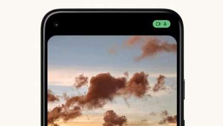 Android 12 avisa se microfone ou câmera estão sendo usados
