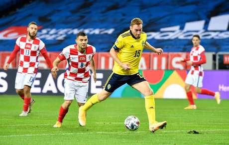 Kulusevski participou dos dois últimos amistosos da Suécia (Foto: HENRIK MONTGOMERY / TT News Agency / AFP)
