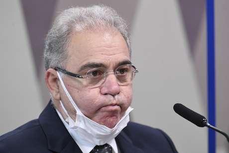 Ministro de Estado da Saúde, Marcelo Queiroga, durante depoimento na CPI da Covid