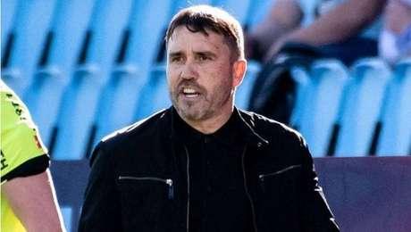 Ex-técnico do Internacional, Eduardo Coudet comemora boa temporada pelo Celta.