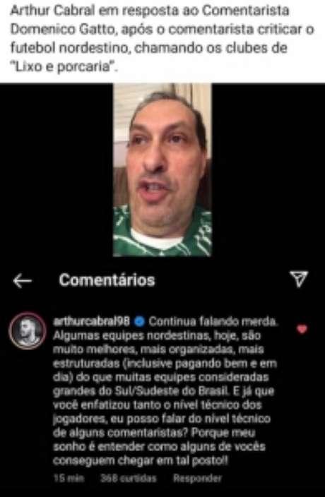 Arthur Cabral fez desabafo nas redes (Foto: Reprodução/Redes sociais)