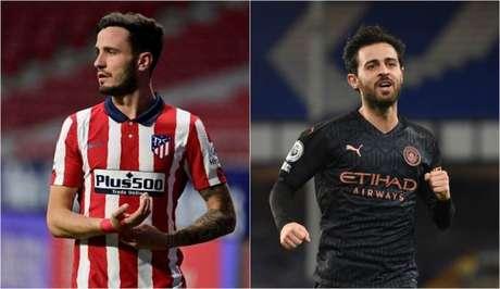 Saúl Ñíguez e Bernardo Silva podem trocar de clube na próxima temporada (Foto: AFP; AFP)