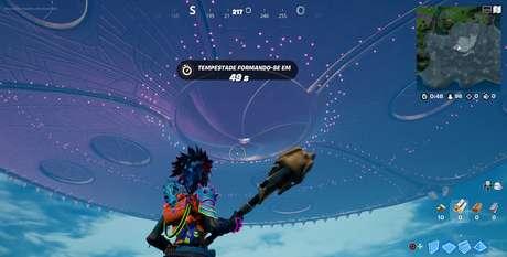 Fortnite - Nave alienígena no céu
