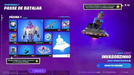 Fortnite - Nova página de recompensas