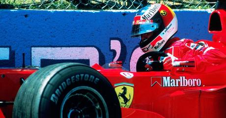 Michael Schumacher após bater no Canadá, em 1999.