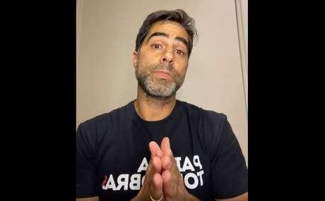 Sorrentino fez uma live na noite de terça-feira, 8, para se pronunciar sobre o caso