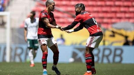 Gabigol e Arrascaeta estão entre os convocados para a Copa América (Foto: Lucas Figueiredo/CBF)