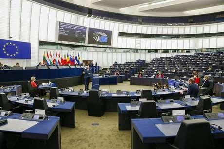 Plenária do Parlamento Europeu em Estrasburgo, na França