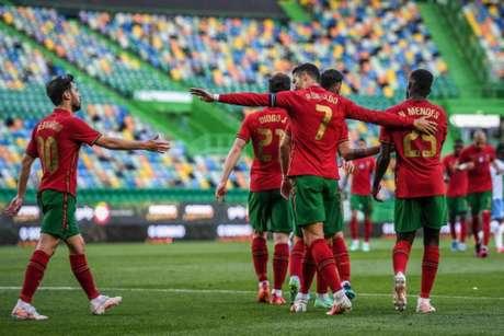 Portugal venceu amistoso contra Israel (Foto: PATRICIA DE MELO MOREIRA / AFP)