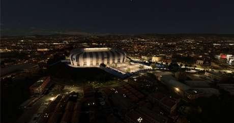 O clube fecha mais uma parceria para o seu estádio, que será inaugurado em 2022-(Divulgação/Arena MRV)