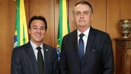 Presidente do Patriota Adilson Barroso e presidente Jair Bolsonaro; partido mudou de nome em 2018 a pedido do então deputado federal, diz Barroso