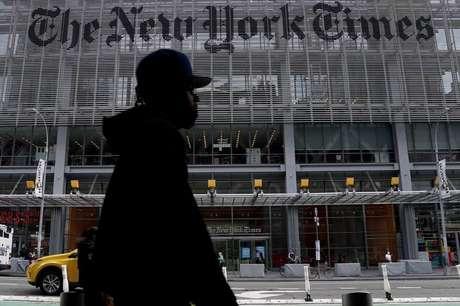 Sede do jornal New York Times, cujo site foi um dos afetados por apagão na internet  28/09/2020 REUTERS/Carlo Allegri