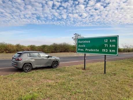 Rodamos cerca de 1.200 km com o novo Compass em SP e PR.