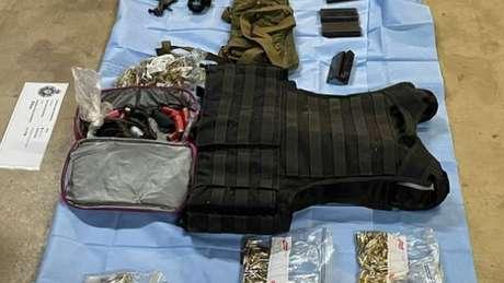 Armas apreendidas pela polícia