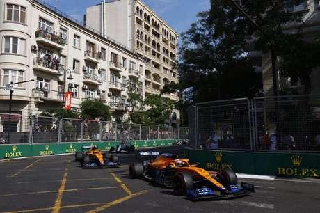 Daniel Ricciardo foi aos pontos e terminou o GP do Azerbaijão na nona colocação