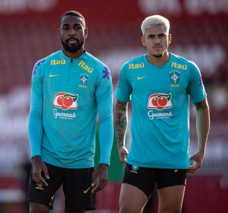 Gerson e Pedro estavam a serviço da Seleção Brasileira olímpica (Foto: Ricardo Nogueira/Foto FC)
