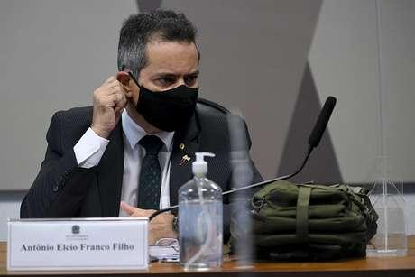 O ex-secretário-executivo do Ministério da Saúde, coronel Antônio Elcio Franco Filho