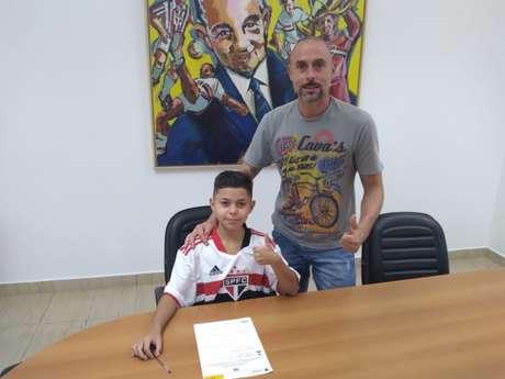 Luan Caruso renovou contrato com o São Paulo até o final desse ano (Foto: Arquivo pessoal)