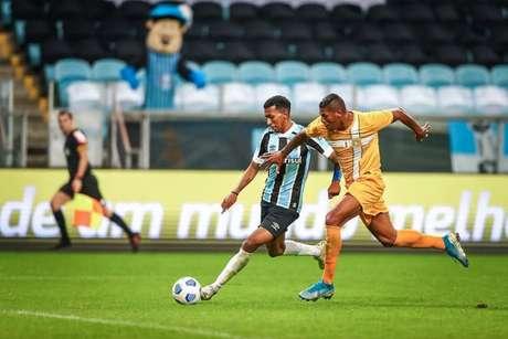 No encontro de ida, deu Tricolor na Arena (Lucas Uebel/Grêmio FBPA)