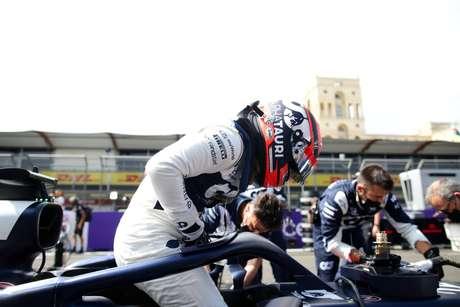 Yuki Tsunoda acabou o GP do Azerbaijão nos pontos, com a sétima colocação conquistada