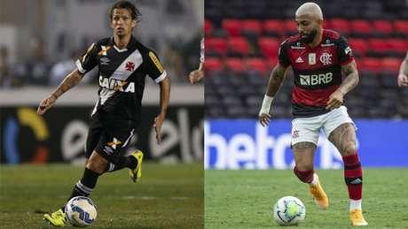 Diguinho rodou por três equipes consideradas grandes no Rio de Janeiro (Montagem LANCE!)