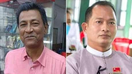 Khin Maung Latt (esq.) e Zaw Myat Lynn (dir.) morreram no início de março