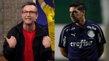 Neto vem criticando Abel Ferreira desde queda no Mundial de Clubes (Montagem LANCE!)