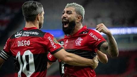 Fla de Diego e Gabigol inicia a busca pelo tetra da Copa do Brasil (Foto: Alexandre Vidal / Flamengo)