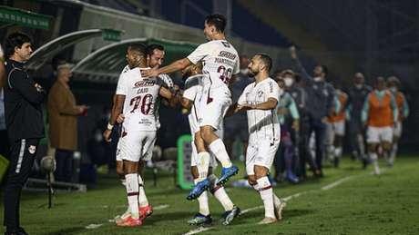 Fluminense perdeu, mas avançou na Copa do Brasil após duelo com Bragantino (Foto: Lucas Merçon/Fluminense FC)