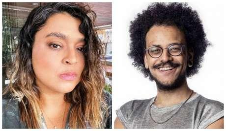 A cantora Preta Gil e o professor João Luiz Pedrosa, ex-BBB 21, que apresentarão série sobre Orgulho LGBT