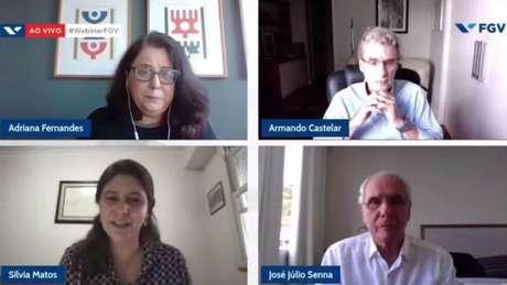 A jornalista do 'Estadão' Adriana Fernandes participou do evento com os pesquisadoresArmando Castelar, Silvia Matos e José Júlio Senna.