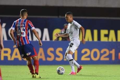 Marcos Guilherme estreou pelo Peixe no duelo contra o Bahia, pelo Brasileirão (Foto: Ivan Storti/Santos FC)