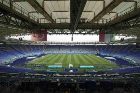 Estádio Olímpico de Roma está pronto para a estreia da Eurocopa (Foto: ANDREW MEDICHINI / POOL / AFP)