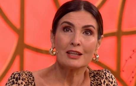 Fátima Bernardes durante o programa 'Encontro'