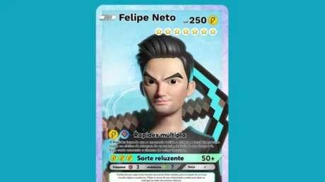 "NFT ""Rapidex Múltipla"", de Felipe Neto, exclusivo da nova plataforma 9block"