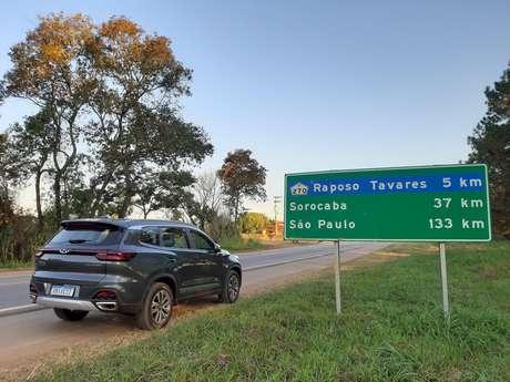 Caoa Chery Tiggo 8: cerca de 800 km em estradas do Estado de São Paulo.