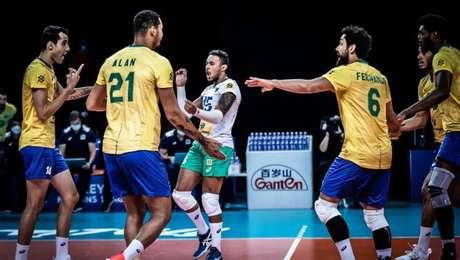 Brasil derrotou Bulgária por 3 sets a 0 na Liga das Nações.