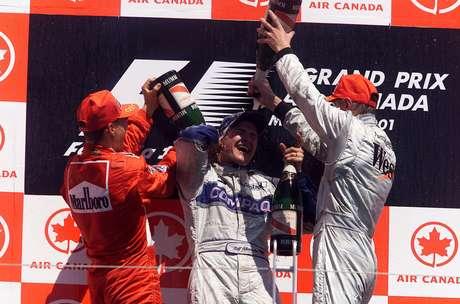 Ralf Schumacher dividiu o pódio com dois campeões da F1