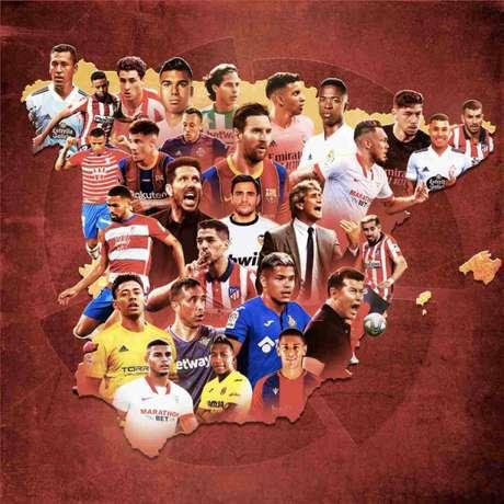 LaLiga conta com diversos sul-americanos (Foto: Divulgação / LaLiga)