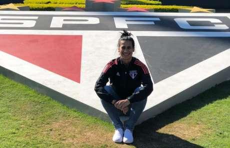 Anne Barros é a nova auxiliar técnica da equipe feminina do São Paulo (Foto: Divulgação/São Paulo FC)