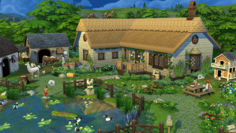 """Pacote """"Vida Campestre"""" de The Sims 4"""