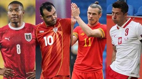 Craques do futebol mundial lideram suas seleções na Euro (Montagem LANCE!)