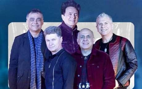 O quinteto da banda Roupa Nova em anúncio sobre novo DVD