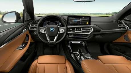 Novos BMW X3 e X4 ganharam nova central multimídia de 12,3''.