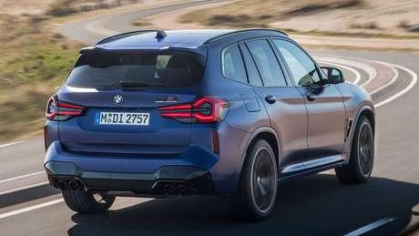Novo BMW X3 M Competition acelera de 0 a 100 km/h em 4 segundos.