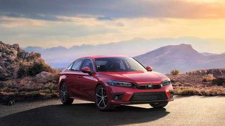 Honda Civic hatch terá dianteira idêntica à do modelo sedã.