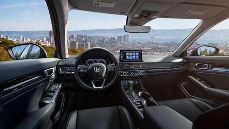 Interior do novo Honda Civic hatch será igual ao do sedã.