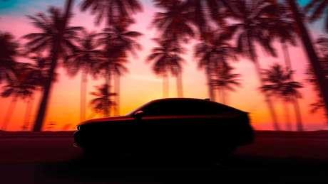 Honda divulga primeiro teaser da nova geração do Civic hatch.